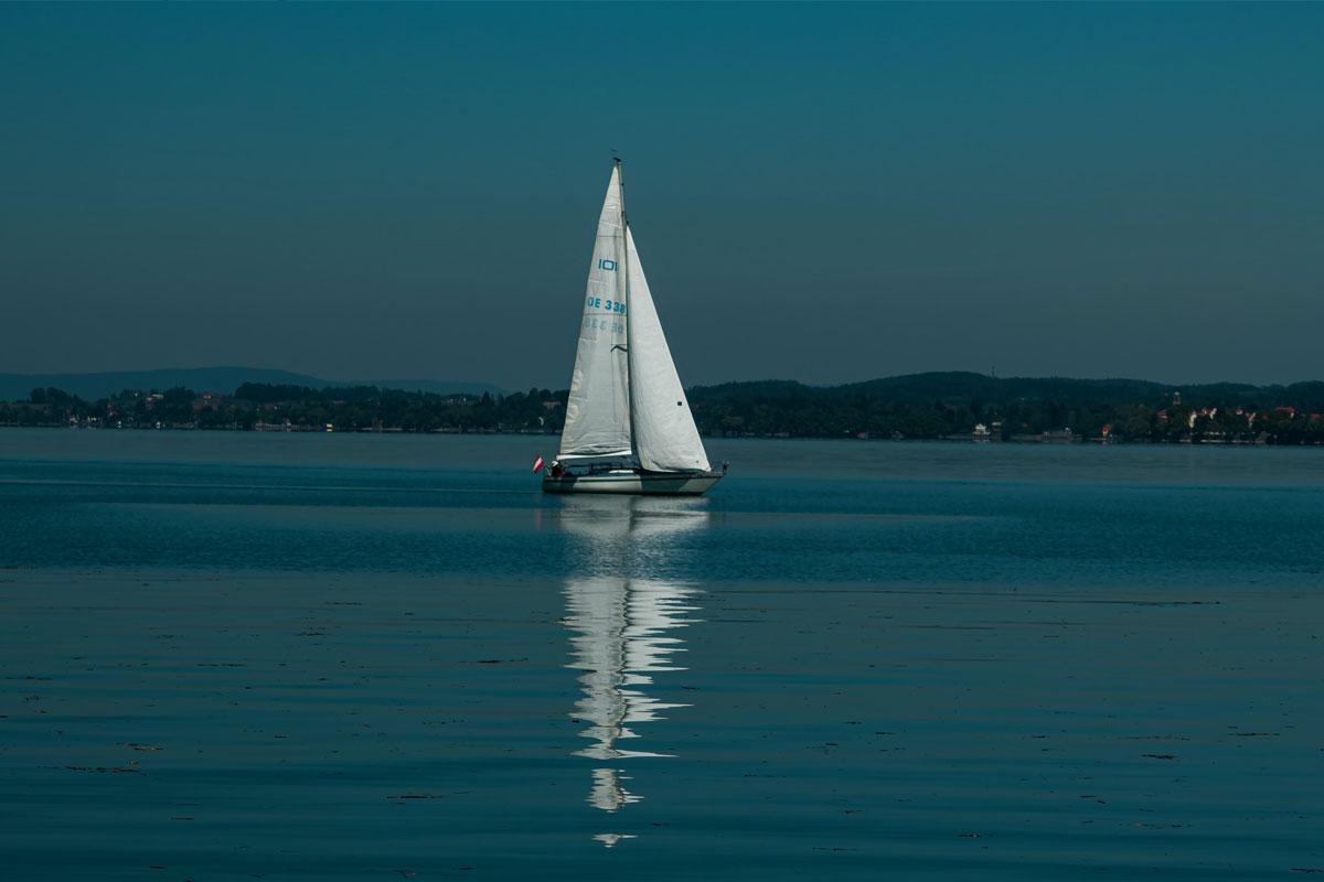 Boot fahren auf dem Bodensee